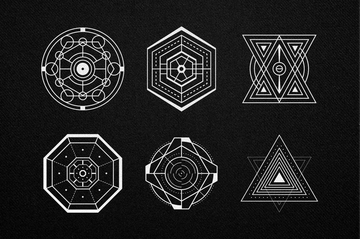 A set of 30 sacred geometry shapes in vector format. Includes .AI and .EPS files. Thank You!