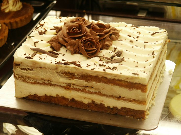 Tiramisu    250ml strong coffee (room temperature), 3 tbsp Frangelico, 1/4 cup castor sugar, 250g Mascarpone, 250ml cream, 500g Boudoir biscuits, 1 slab dark chocolate, shaved    Combine mascarpone cheese, liquer & sugar. In separate bowl whip cream till soft peaks form. Fold cheese mix into whip cream. In 8×8-inch glass dish layer biscuits tightly. Drizzle 1/2 coffee over biscuits - saturate evenly. Spread cheese mix on top. Sprinkle shaved chocolate. Repeat. Cover & refrigerate eight…