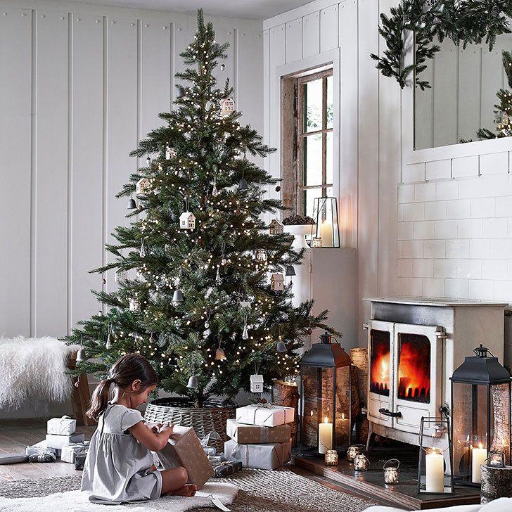 Прекрасный праздничный декор от The White Company   Пуфик - блог о дизайне интерьера