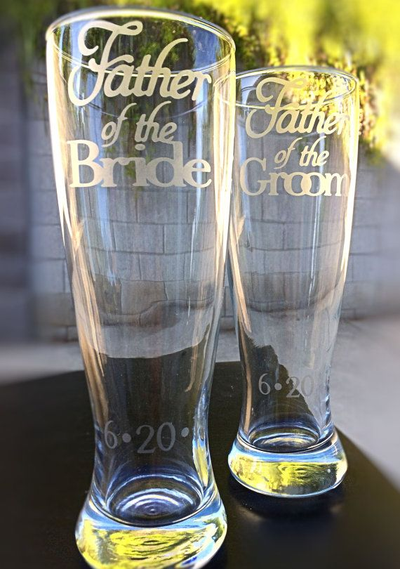 Father of the Bride Glass and Father of the Groom Glass by EVerre