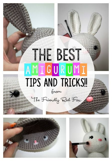 The best tips and tricks when you are beginning with amigurumi! From safety eyes...