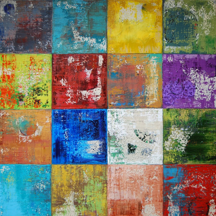 """Squares by 48B, Oil on canvas, 48"""" x 48"""", Janet L Hamilton"""