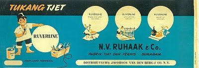 Indonesian Vintage Product Labels