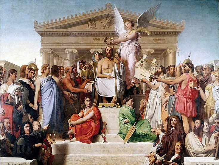 Jean Auguste Dominique Ingres, Apotheosis of Homer, 1827 - Դոմինիկ Էնգր - Վիքիպեդիա՝ ազատ հանրագիտարան