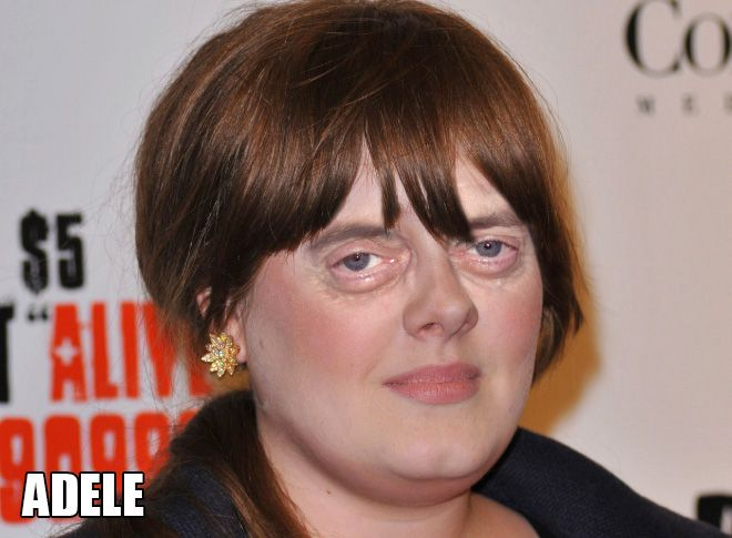 Adele - Female Stars And Celebrities With Steve Buscemi Eyes (2 of 20 Pics)