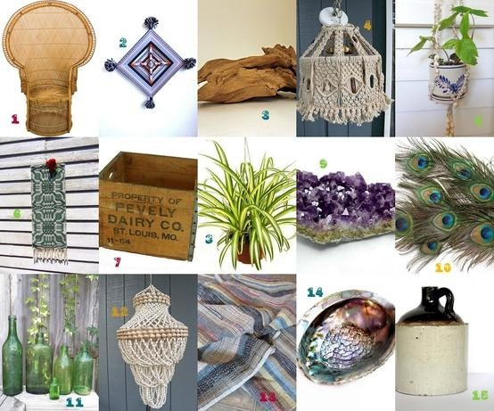 GYPSY YAYA // I remember seeing a comment where someone was asking about what kinds of things to use in hippie/bohemian home decor...well, here you go! Hope you see this. I would add candles, incense, and the bead fringe or bead curtains we'd hang in the doorways...also, a true bohemian searches for, assembles, and crafts much of their own decor - they don't just buy it.