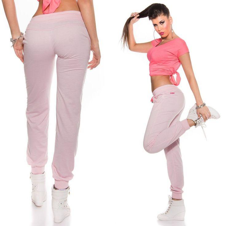 c61e55637506a Pantalon jogging femme KouKla couleur rose   Survêtement de Sport et jogging  femme   Pinterest   Jogging, Femme et Pantalon jogging.