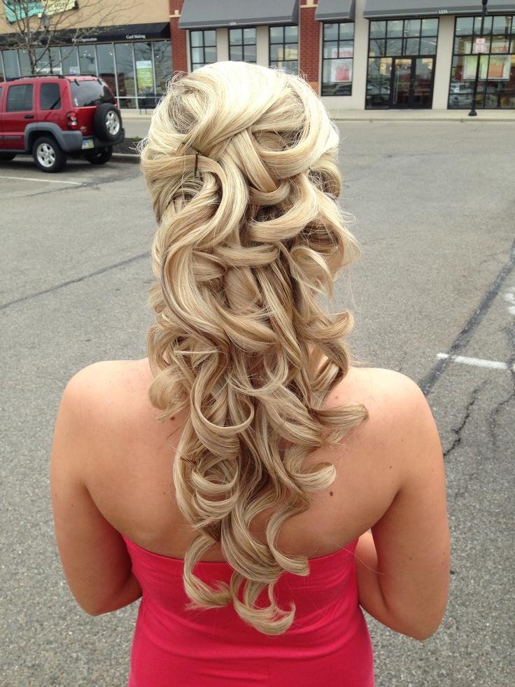 Prom hair half up half down