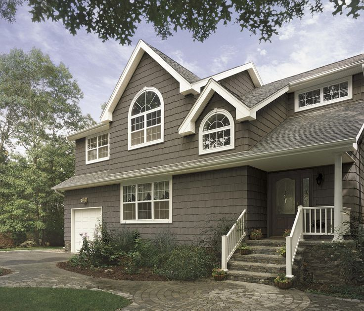 Vinyl siding color combinations cedar impressions for Vinyl siding colors on houses