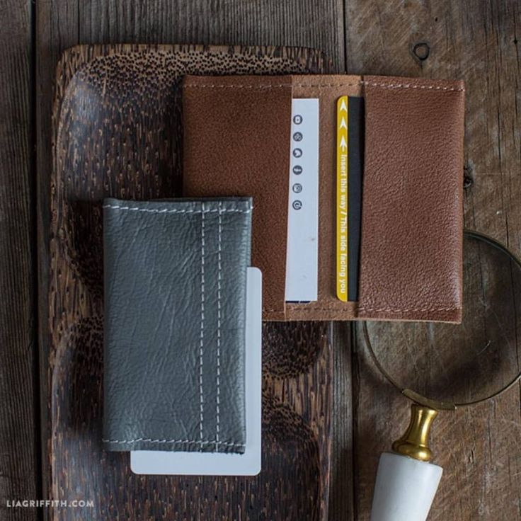 This handsome leather wallet is simple and cheap to make. You just need a leather sheet and some stitching materials to get it ready.