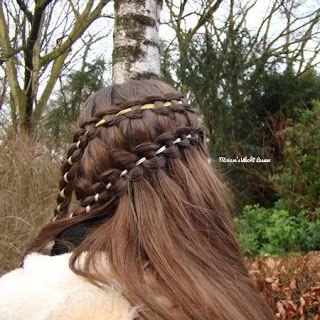 Miriam's Vlecht Lessen (Miriam's braiding instructions): Laddervlecht // Ladder braid