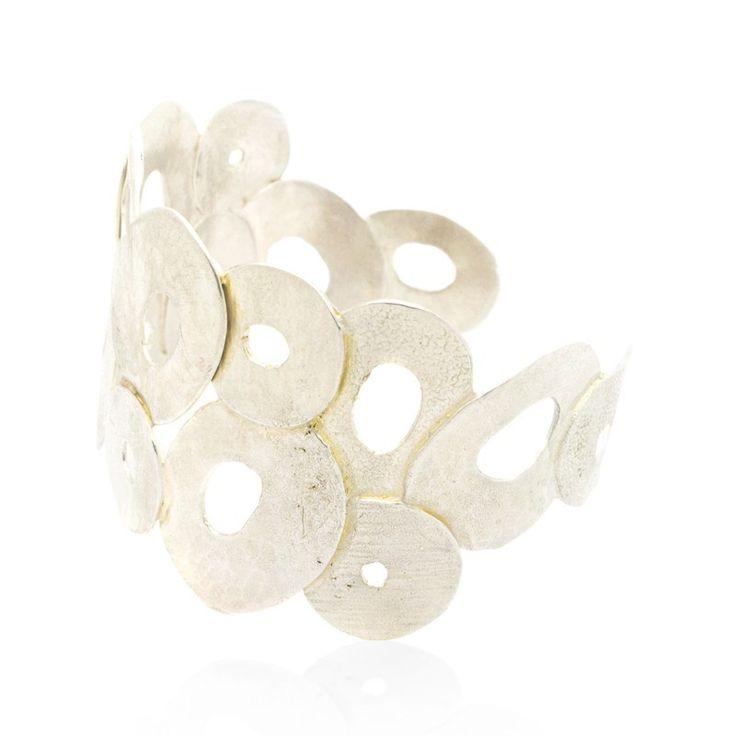 Bracelet white gold plated CHLORIS www.bijoubox.gr  #bijoubox #bracelet #bronze #white #gold #handmade #greece #greek #jewelry #jwl