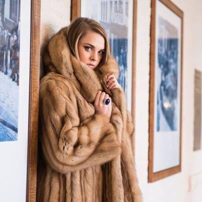 Dressed in #fur in the @Hotel Jerome Aspen Terrace Room.