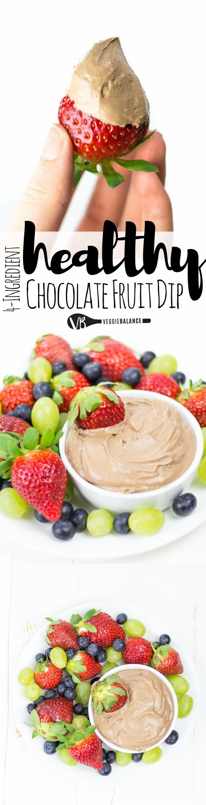 Fruit Dip will take you and your guests on a tasty trip. Only 4 ingredients to make this chocolatey, healthy and allergy sufferer friendly fruit dip. (Gluten Free, Dairy Free, Vegan, Peanut Free) Sponsored by @sunbutter