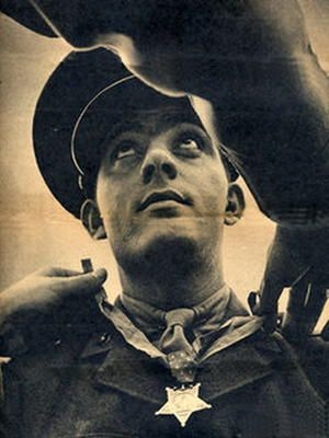 John Basilone receving the medal of honor. Love this picture.