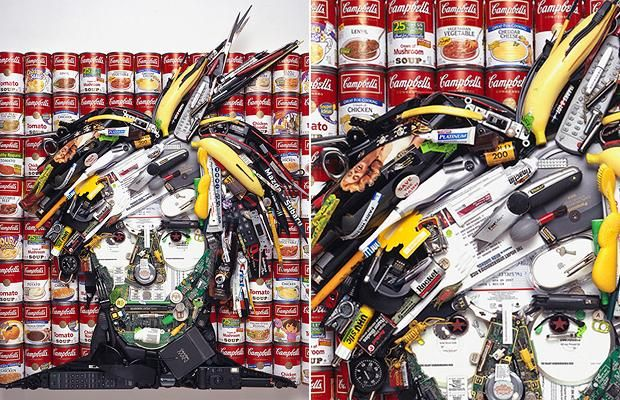 Jason Mecier's artwork makes celebrities look like a load of rubbish.
