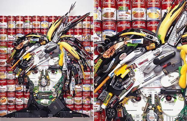 Jason Mecier's artwork makes celebrities look like a load of rubbish.