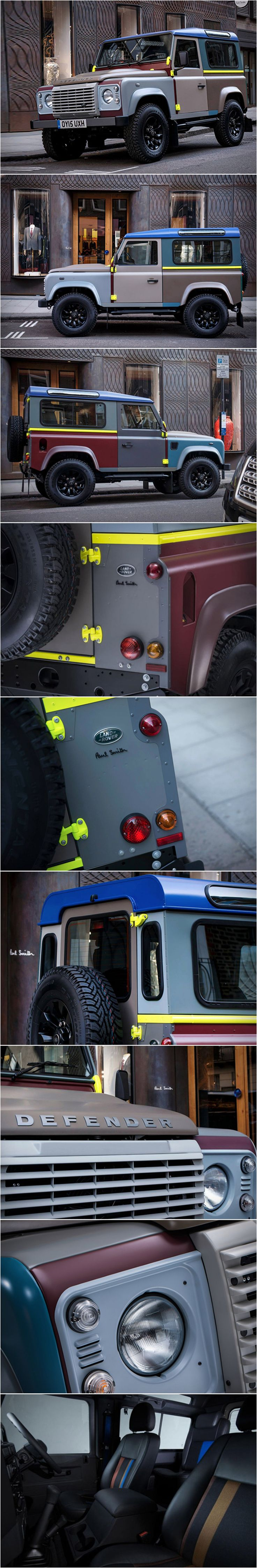 Special Edition Land Rover Defender by Paul Smith. Yes Please!