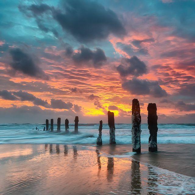 sunset beach . . .