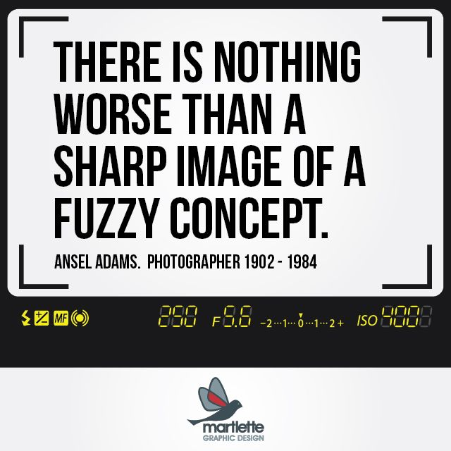 And likewise, there is nothing worse than a fuzzy image of a sharp concept! - Martlette Graphic Design Geelong www.martlette.com.au