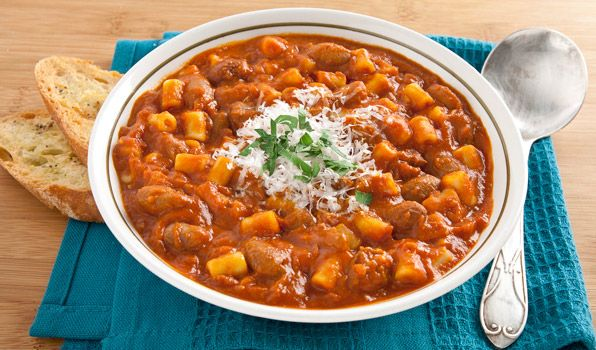 Pasta Fagioli. A meatless Italian favourite that's perfect for big-batch fall cooking.