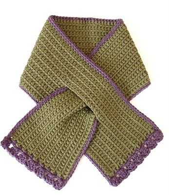 Crochet keyhole scarf - not crazy about the style and color but like the keyhole!