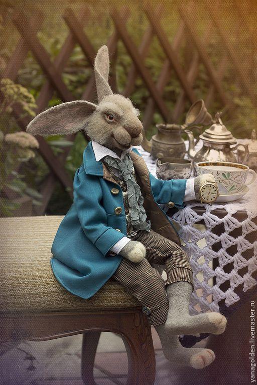 Купить Игрушка. Мартовский заяц. - морская волна, мартовский заяц, игрушка ручной работы