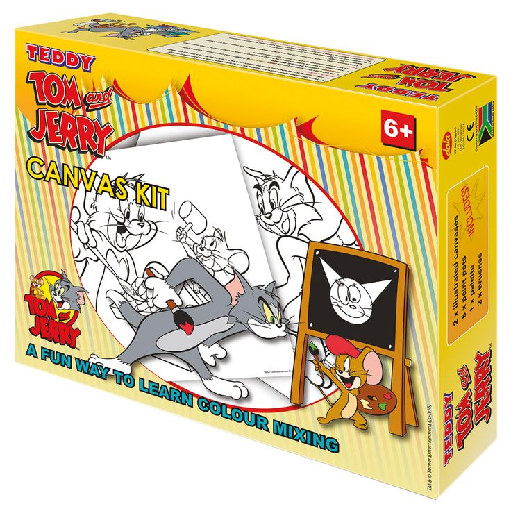 Tom & Jerry Canvas Kit: Paint your favourite Hanna Barbera characters Tom & Jerry.
