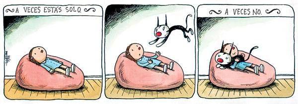 Universo Paralelo: Liniers Macanudo - Enriqueta e Fellini
