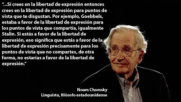 Libertad De Expresión. Noam Chomsky