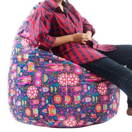 Buy Onam Elephant Blue Bean Bag Online - Chumbak