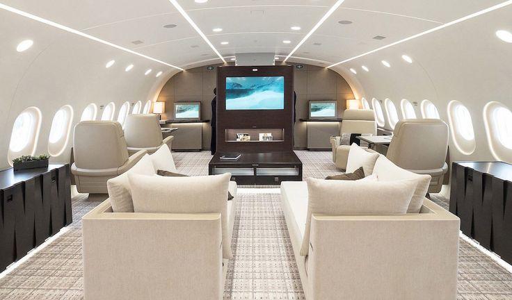 Ce Boeing 787 Dreamliner a été transformé en jet privé de luxe - http://www.leshommesmodernes.com/boeing-787-jet-prive/