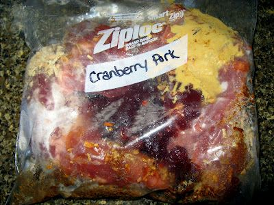 """Cranberry-Dijon Pork Tenderloin Tutorial (FREEZER MEAL)      var ultimaFecha = 'Tuesday, July 17, 2012';  Tuesday, July 17, 2012    This another one of those """"gallon bag wonders"""" that take about 2 minutes to assemble and get into the freezer. Then, when your"""