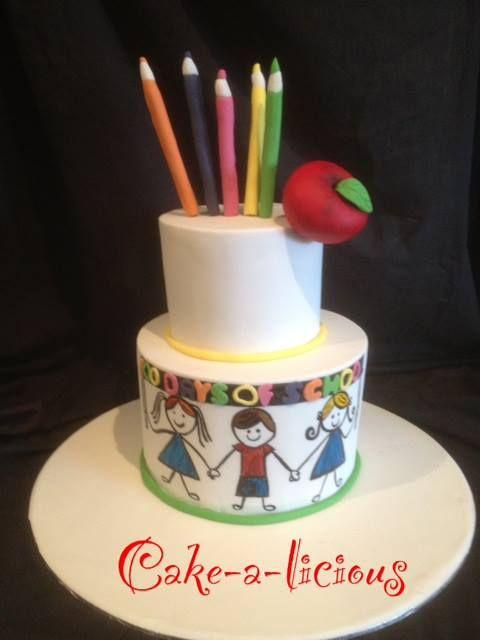 Cake Art School : 154 best Teacher Cakes images on Pinterest