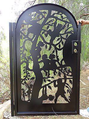 Details about Metal Art Gate Children Tree Steel Ornamental Iron Estate Garden Walk Pedestrian