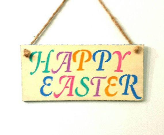 Check out this item in my Etsy shop https://www.etsy.com/ca/listing/264888649/happy-easter-sign-wooden-sign-rustic
