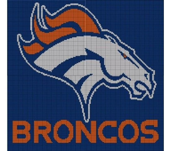 Denver Broncos Crochet Pattern Afghan Graph