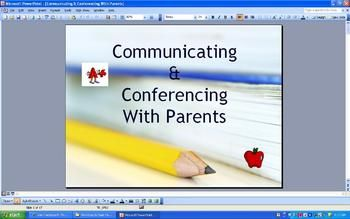 As a presenter to new teachers, I created this PowerPoint presentation filled with tips on how to successfully communicate with parents.  It also prepares teachers for wonderful parent teacher conferences.  It explains:  why PT conferences are vital, the setting of the classroom during conference time, handouts to supply, how to explain the report card, secrets & tips, how to deal with irate parents, weighing your words, etc.Even for veteren teachers, this presentation will give you some ...