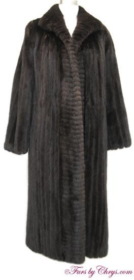 """Blackglama® Ranch Mink Coat RM698; $800 (sale!); Very Good Condition; Size range: 6 - 10. This is a gorgeous genuine natural Blackglama ranch mink fur coat. Blackglama® mink is """"the world's finest natural ranch-raised mink."""" It has a Hopper Furs and Blackglama® labels and features a shawl collar.  The body is constructed of corded mink with horizontal corded mink at the closure edges. Glamorous! fursbychrys.com"""
