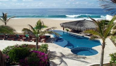 LOS CABOS-8 br/7.5 ba-Beachfront on Pedregal Beach  Spend your next vacation in pure luxury in this beautiful 8 bedroom, 7.5 bath villa located on the Pedregal Beach in Cabo San Lucas. Casa Alcini offers it all with 7000 sq. ft. of inside luxury and an additional 4000 sq. ft. of deck for your enjoyment. http://taylormadetravel.agentarc.com  taylormadetravel142@gmail.com  call 828-475-6227