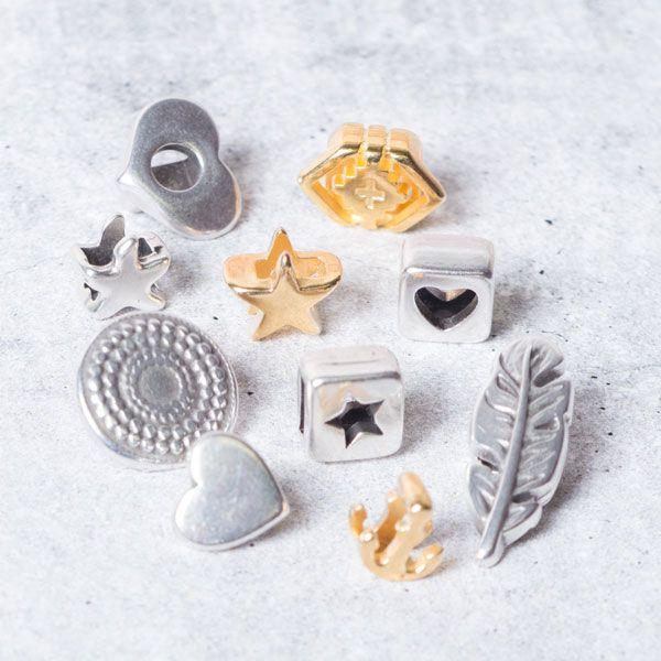 Viele verschiedene Slider für verschiedene Armbänder  #schiebeperlen #slider #bracelets #diyschmuck #schmuckanleitung #schmuckshop #selbstgemacht #jewelrymaking #schmuckdesign #schmuckideen