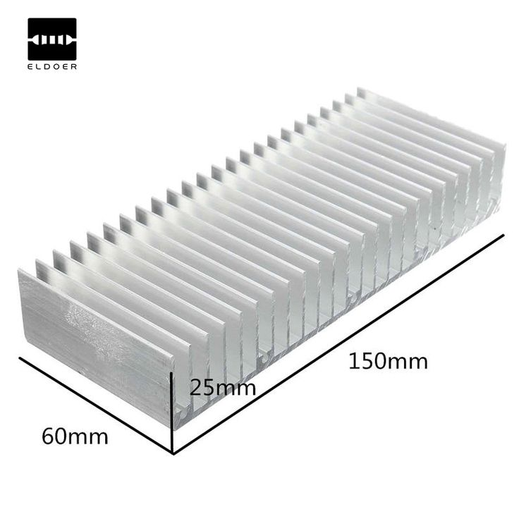 New Arrival Aluminum Heat Sink Cooling For Chip IC LED Transistor Power Memory 150x60x25MM Best Price