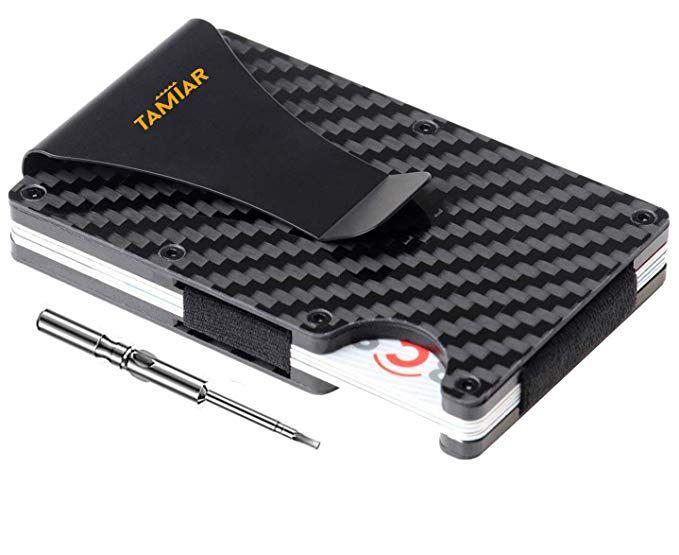 Carbon Fiber Wallet – Minimalist Wallet – RFID Blocking Metal Wallet | Up to 12 …