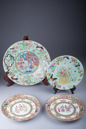 Antique Chinese Rose Madarian Chargers