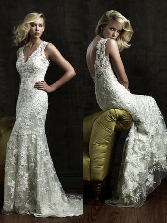 Allure- Style number 8800- vintage, elegant, effortless.. We could go on and on about this gown!