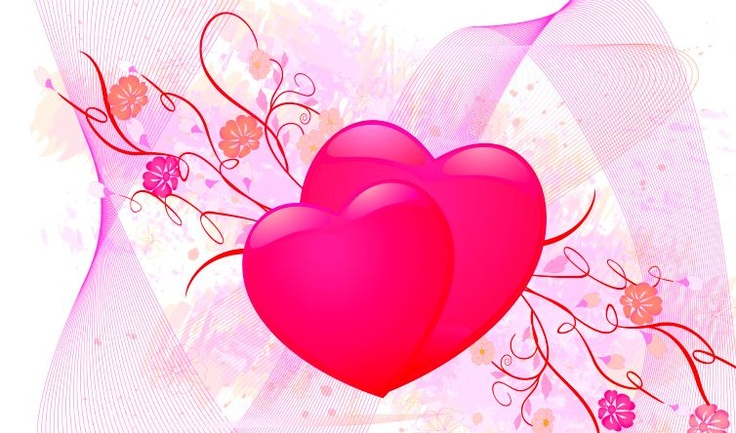 Wallpaper Cinta Warna Pink yang Romantis dan Lucu
