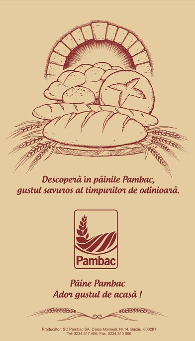 Packaging Graphic Design and Illustration for   Pambac Romania
