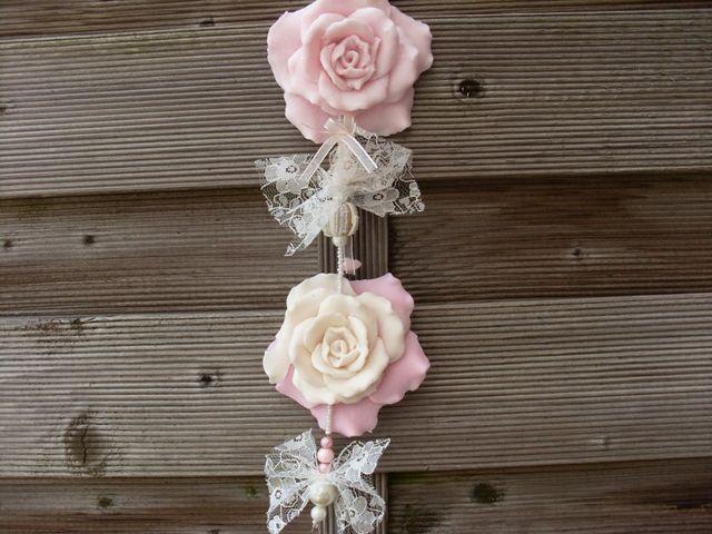 romantische poederroze rozenketting