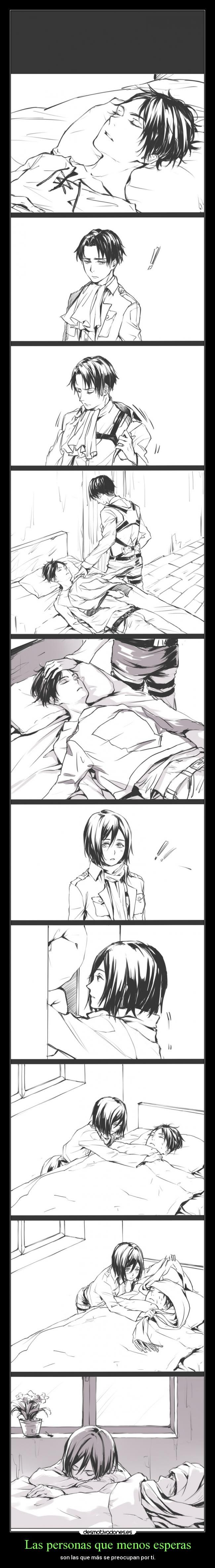 carteles corazon anime amor amigos amistad shingekinokojin levi rivaillie mikasa erenaeger desmotivaciones