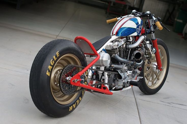 Harley-Davidson Ironhead Sportster Bobber by DP Customs #motorcycles #bobber #motos | caferacerpasion.com